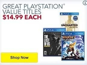 Best Buy Black Friday: The Last of Us Remastered, Uncharted: The Nathan Drake Collection, Ratchet & Clank and More Games for Playstation 4 for $14.99