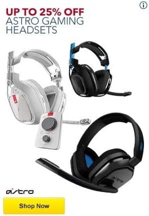 Best Buy Black Friday: Astro Gaming Headsets - Up to 25% Off