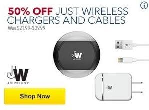 Best Buy Black Friday: Wireless Chargers and Cables - 50% Off