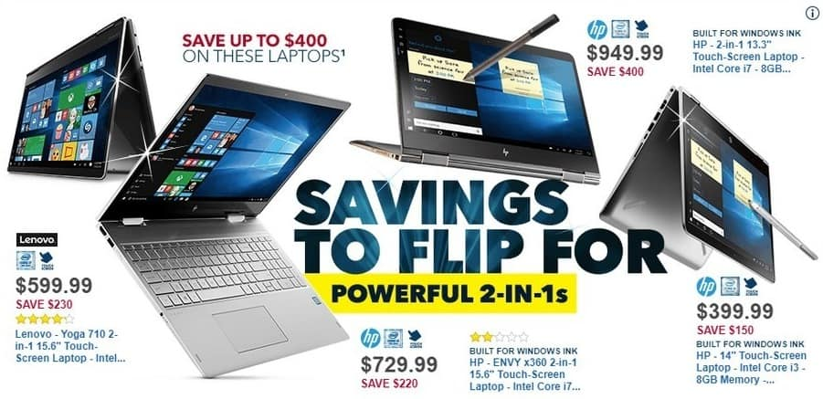 """Best Buy Black Friday: Lenovo Yoga 710 2-in-1 15.6"""" TouchScreen Laptop, Intel Core i5, 256GB SSD, Win 10 for $599.99"""
