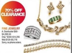 Macy's Black Friday: Fine Jewelry Clearance - 70% Off