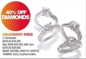 Macy's Black Friday: Diamond Engagement Rings - 40% Off
