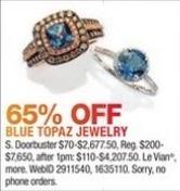 Macy's Black Friday: Blue Topaz Jewelry - 65% Off