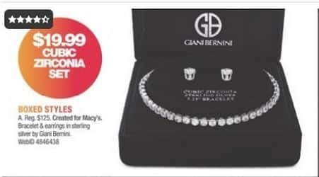 Macy's Black Friday: Cubic Zirconia Set - Bracelet & Earrings in Sterling Silver for $19.99
