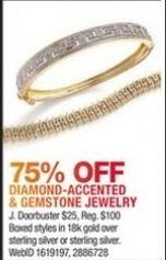 Macy's Black Friday: Boxed Style Diamond Accented & Gemstone Jewelry - 75% Off