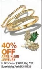 Macy's Black Friday: Anne Klien Jewelry - 40% Off