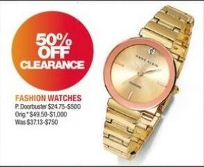 Macy's Black Friday: Fashion Watch Clearance - 50% Off