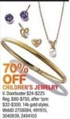 Macy's Black Friday: Children's Jewelry 14K Gold Styles - 70% Off