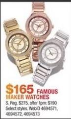Macy's Black Friday: Famous Maker Watches for $165.00