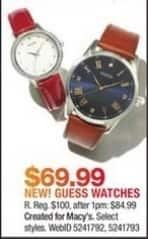 Macy's Black Friday: Guess Watches Select Styles for $69.99