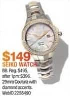 Macy's Black Friday: Seiko Watches Select Styles for $149.00