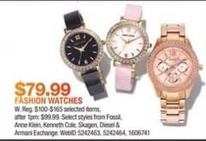 Macy's Black Friday: Fossil, Anne Klein, Kenneth Cole and More Watches for $79.99