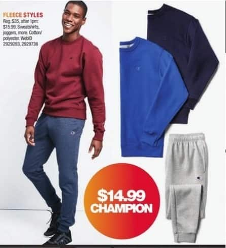 Macy's Black Friday: Champion Fleece Select Styles for $14.99