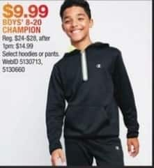Macy's Black Friday: Champion Boys' 8-20 Select Hoodies and Pants for $9.99