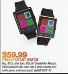 Macy's Black Friday: iTouch Smart Watch for $59.99