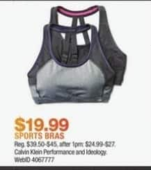 Macy's Black Friday: Calvin Klein and Ideology Sports Bras for $19.99