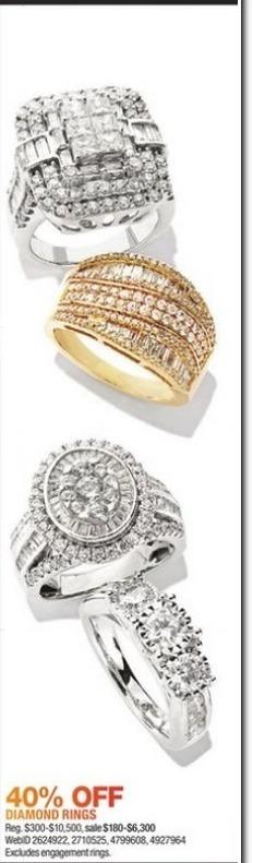 Macy's Black Friday: Select Diamond Rings - 40% Off