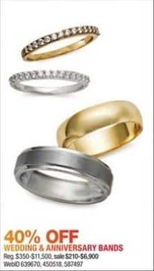 Macy's Black Friday: Wedding and Anniversary Bands - 40% Off
