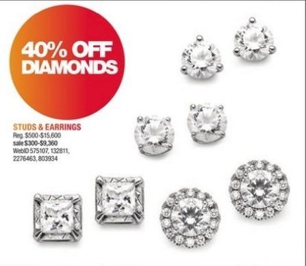 Macy S Black Friday Diamond Stud And Earrings 40 Off