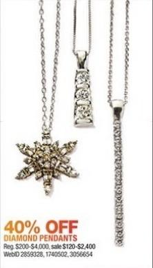 Macy's Black Friday: Diamond Pendants - 40% Off