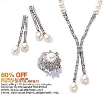 Macy's Black Friday: Arabella Cultured Freshwater Pearl Jewelry - 60% Off