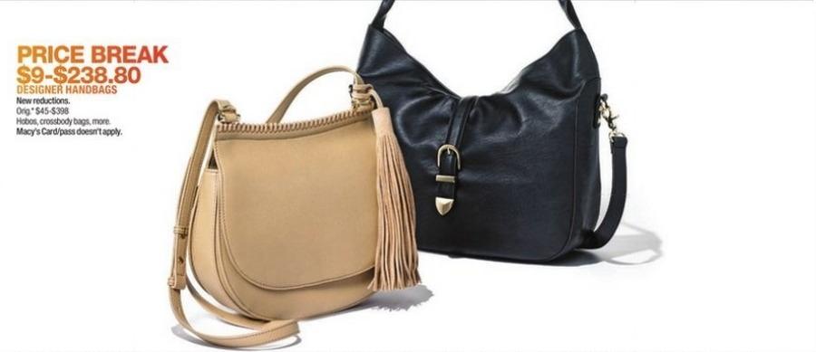 Macy's Black Friday: Designer Handbags, Hobos, Crossbody Bags and More for $9.00 - $238.80