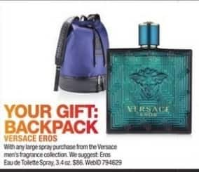dd5f86ffdc07 Macy s Black Friday  Backpack w  Any Large Spray Purchase From The Versace  Men s Fragrance