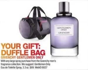 Macy's Black Friday: Duffle Bag w/ Purchase of Any Large Spray From The Givenchy Gentlemen Men's Fragrance Collection for Free