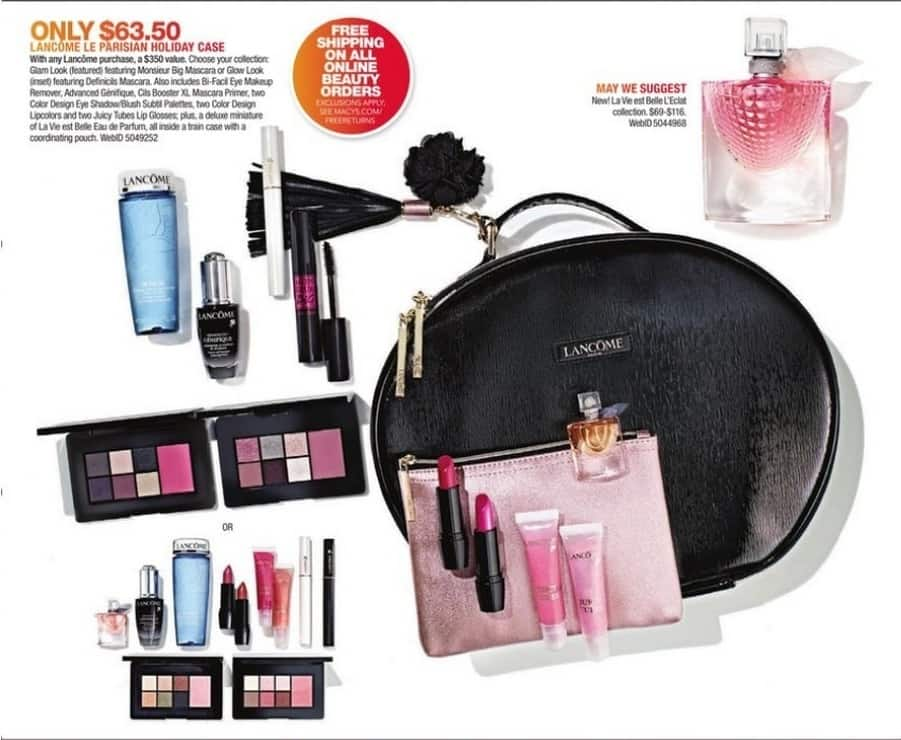 Macy's Black Friday: Lancome Le Parisian Holiday Case - Your Choice Of Collection for $63.50