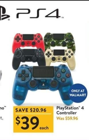 Walmart Black Friday: PlayStation 4 Controller for $39.00