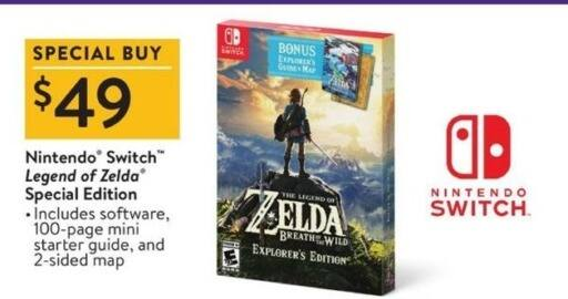 Walmart Black Friday: Nintendo Switch Legend of Zelda Special Edition for $49.00