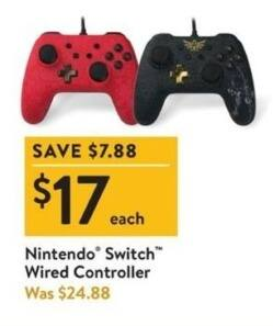 Walmart Black Friday: Nintendo Switch Wired Controller for