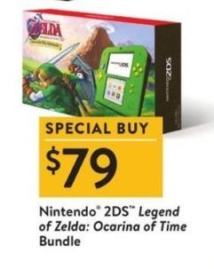 Walmart Black Friday: Nintendo 2DS Legend of Zelda: Ocarina of Time Bundle for $79.00