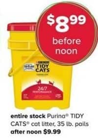 PetSmart Black Friday: Purina Tidy Cats Cat Litter - Entire Stock for $8.99