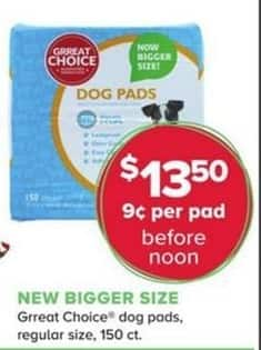 PetSmart Black Friday: Grreat Choice Dog Pads for $13.50