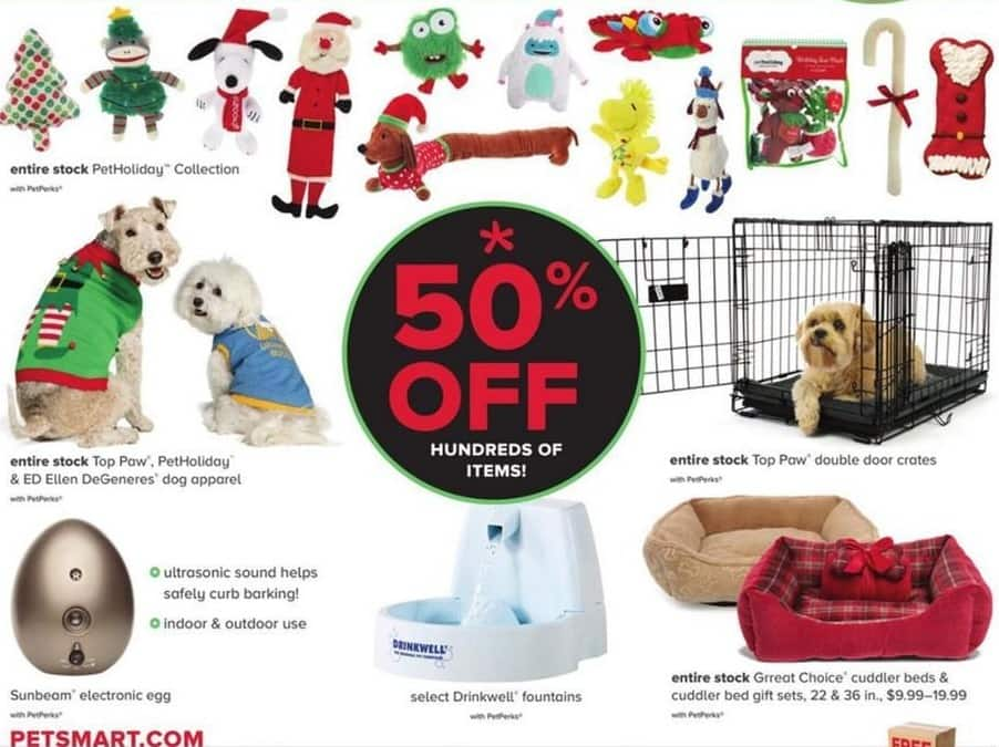 PetSmart Black Friday: Select PetHoliday, Top Paw, Ellen DeGeneres, Grreat Choice and More Pet Items - w/PetPerks - 50% Off