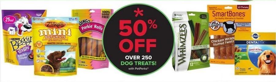 PetSmart Black Friday: Over 250 Dog Treats - w/PetPerks - 50% Off