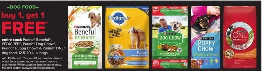 PetSmart Black Friday: Entire Stock of Purina Beneful, Pedigree, Purina Dog Chow, Purina Puppy Chow & Purina One Dog Food. 12.5 -20.4lb Bags - B1G1 Free w/PetPerks