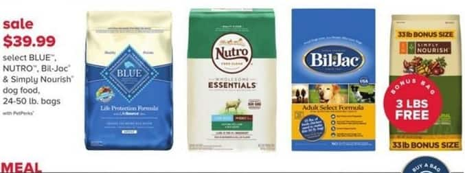 PetSmart Black Friday: Blue Nutro, Bil-Jac & Simply Nourish Dog Food -  w/PetPerks for $39.99