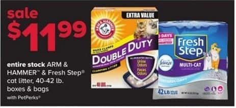 PetSmart Black Friday: Arm & Hammer and Fresh Step Cat Litter, 40 -42 lb. Boxes and Bags - w/ PetPerks for $11.99
