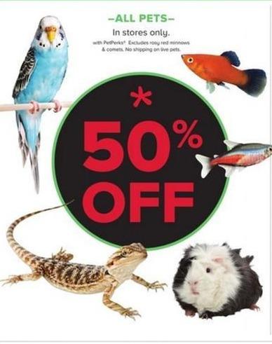 PetSmart Black Friday: All Pets - w/ PetPerks - 50% Off
