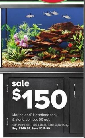 PetSmart Black Friday: Marineland Heartland Tank & Stand Combo, 60 Gal. - w/ PetPerks for $150.00