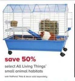 PetSmart Black Friday: All Living Things Small Animal Habitats - w/ PetPerks - 50% Off