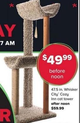PetSmart Black Friday: Whisker City Cozy Inn Cat Tower 47.5 in. for $49.99