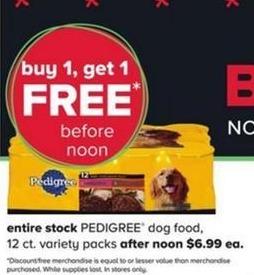 PetSmart Black Friday: Pedigree Dog Food 12 ct. Variety Packs - B1G1 Free