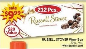 Freds Black Friday: Russell Stover Wow Box 30 oz Asst. for $9.99