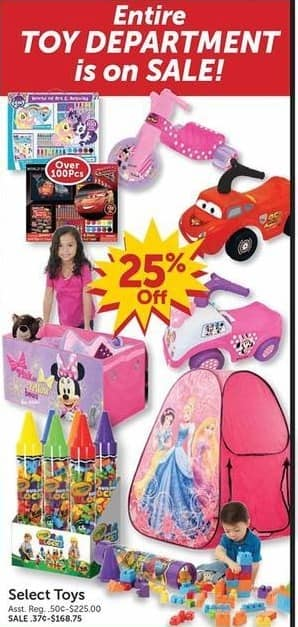 Freds Black Friday: Entire Toy Department - 25% Off