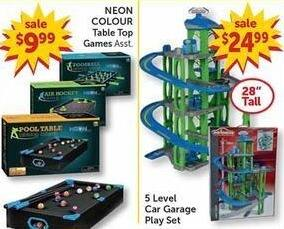 Freds Black Friday: Neon Colour Table Top Games Asst. for $9.99