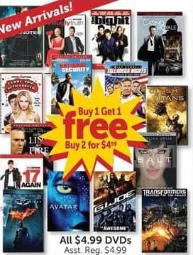 Freds Black Friday: All $4.99 DVDs - B1G1 Free