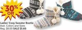 Freds Black Friday: Ladies' Cozy Sweater Bootie - 30% Off
